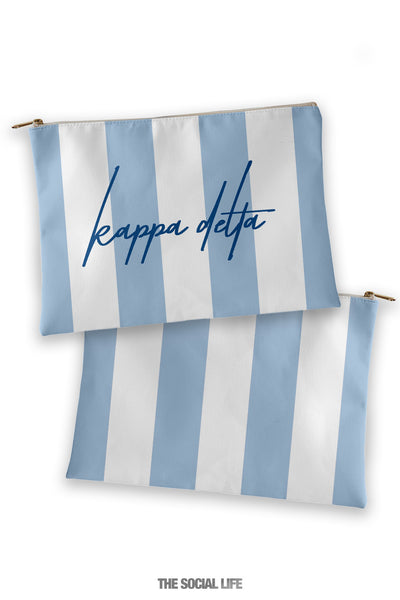 Kappa Delta Striped Cosmetic Bag
