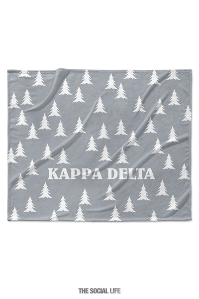 Kappa Delta Grey Pines Velvet Plush Blanket