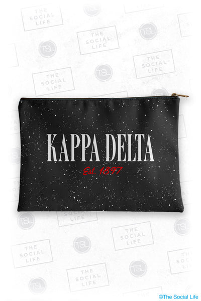 Kappa Delta Speckle Cosmetic Bag