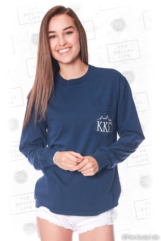 6444ead253fd Kappa Kappa Gamma Mountain Range Pocket Long Sleeve – The Social Life