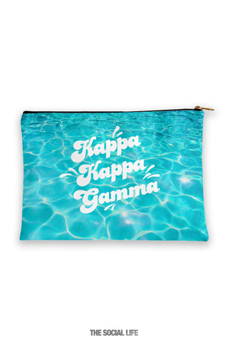 Kappa Kappa Gamma Pool Water Cosmetic Bag