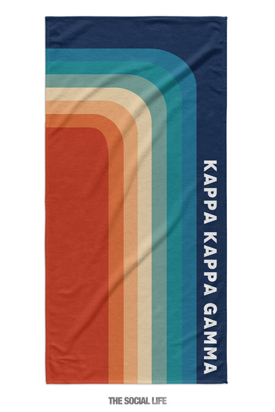 Kappa Kappa Gamma Far Out Towel