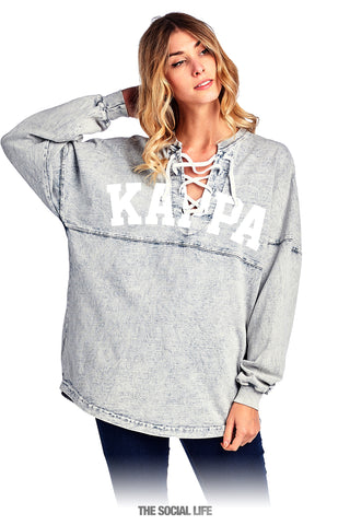 Kappa Kappa Gamma Mineral Wash Lace Up Spirit Jersey
