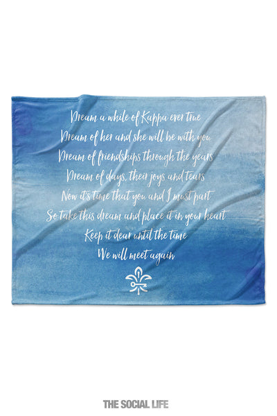 Kappa Kappa Gamma Dream Velvet Plush Blanket