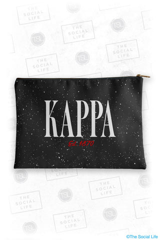 Kappa Kappa Gamma Speckle Cosmetic Bag