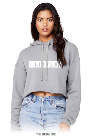 "Headline ""Little"" Cropped Hoodie"