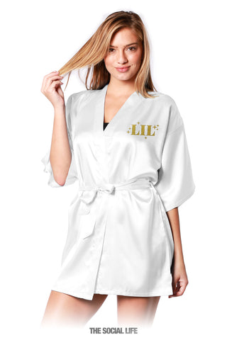 Little Foil Silky Robe
