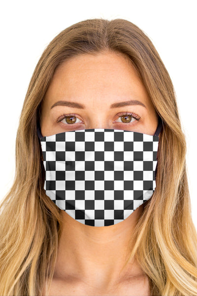 Checkered Face Mask (Anti-Microbial)