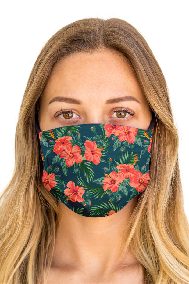 Hibiscus Face Mask (Anti-Microbial)