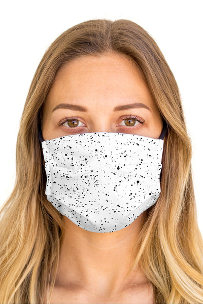 Splatter White Face Mask (Anti-Microbial)