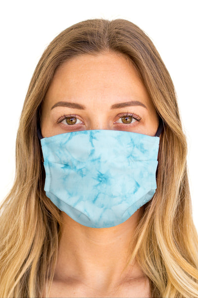 Tie Dye Blue Face Mask (Anti-Microbial)
