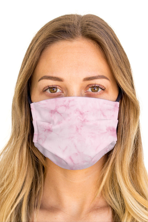 Tie Dye Pink Face Mask (Anti-Microbial)