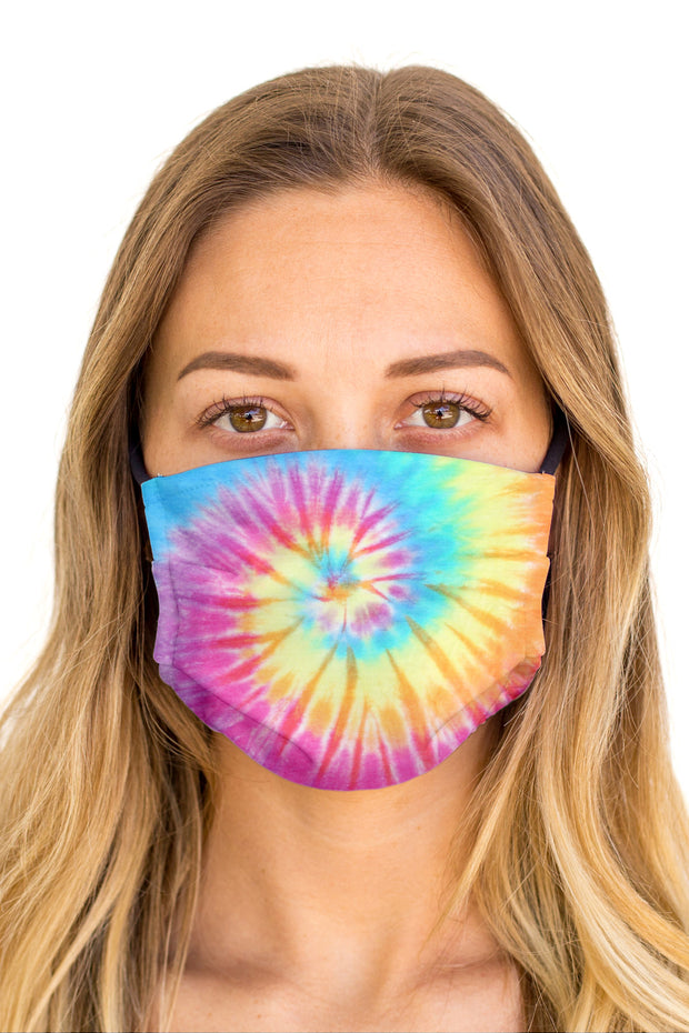 Tie Dye Spiral Face Mask (Anti-Microbial)