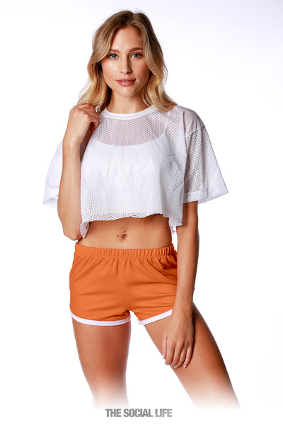 Game Day Retro Shorts - Orange