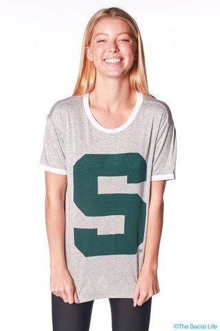 Michigan State Relaxed Ringer Tee