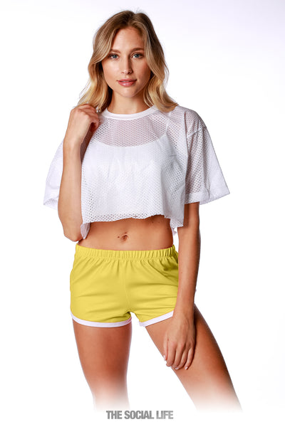 Game Day Retro Shorts - Yellow