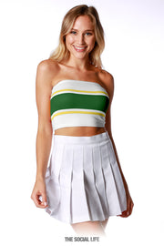 Game Day Tube Top (Reversible) - White / Green / Yellow