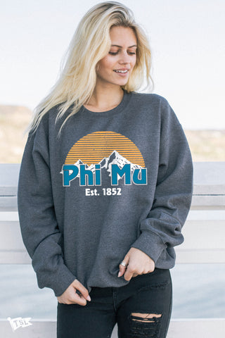 Phi Mu Everest Crewneck