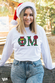 Phi Mu Holiday Letter Long Sleeve
