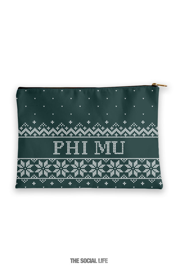 Phi Mu Holiday Cosmetic Bag