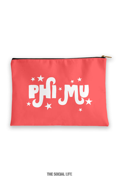 Phi Mu Pixie Cosmetic Bag