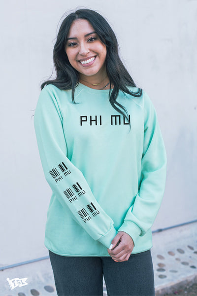 Phi Mu Priceless Raglan Crewneck