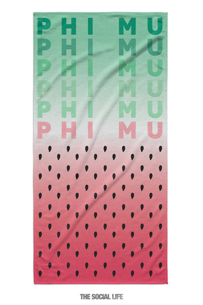 Phi Mu Watermelon Towel