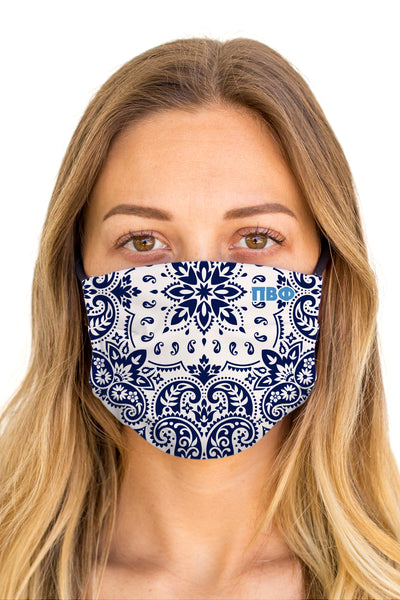 Phi Mu Bandana Mask (Anti-Microbial)