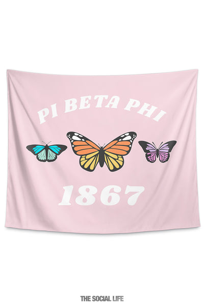 Pi Beta Phi Butterfly Tapestry