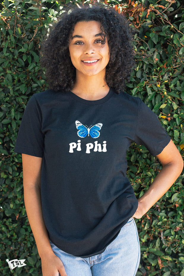 Pi Beta Phi Groovy Butterfly Tee