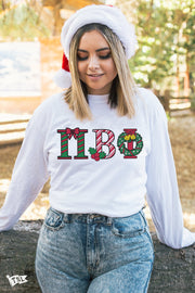 Pi Beta Phi Holiday Letter Long Sleeve
