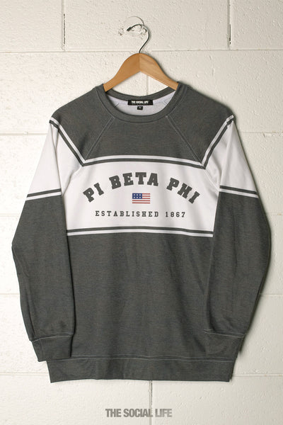 Pi Beta Phi Hometown Raglan Crewneck