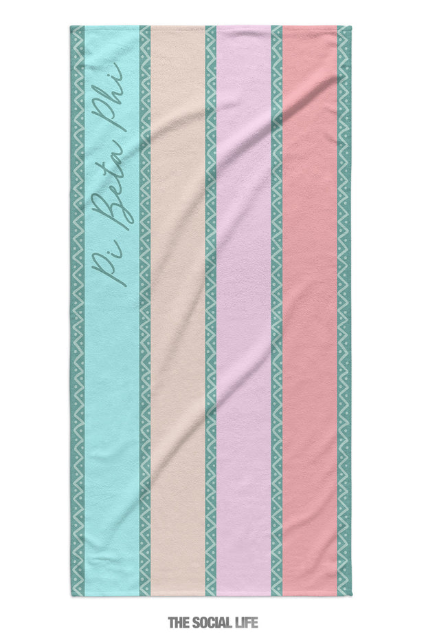 Pi Beta Phi Island Stripe Towel