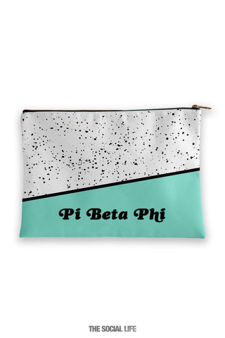 Pi Beta Phi Mint Chip Cosmetic Bag