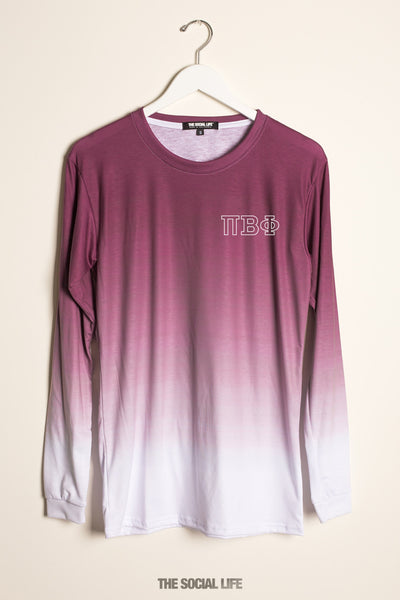 Pi Beta Phi Classic Crest Ombre Long Sleeve