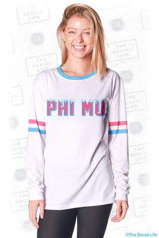 Phi Mu Frosted Long Sleeve