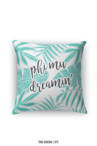 Phi Mu Dreamin' Pillow