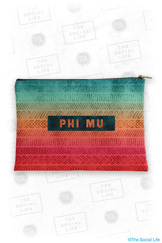 Phi Mu Tribal Cosmetic Bag