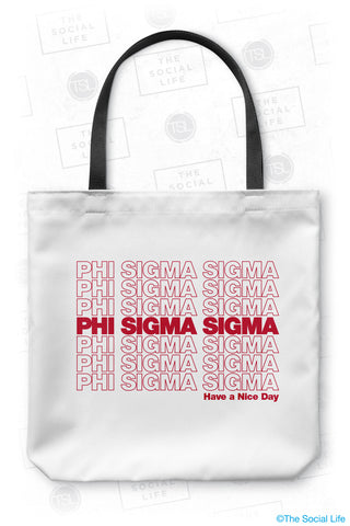 Phi Sigma Sigma Thank You Tote Bag