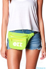 Phi Sigma Sigma Neon Fanny Pack