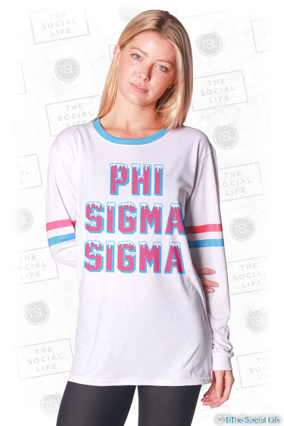 Phi Sigma Sigma Frosted Long Sleeve