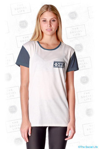 Phi Sigma Sigma Hang Loose Scoop Tee