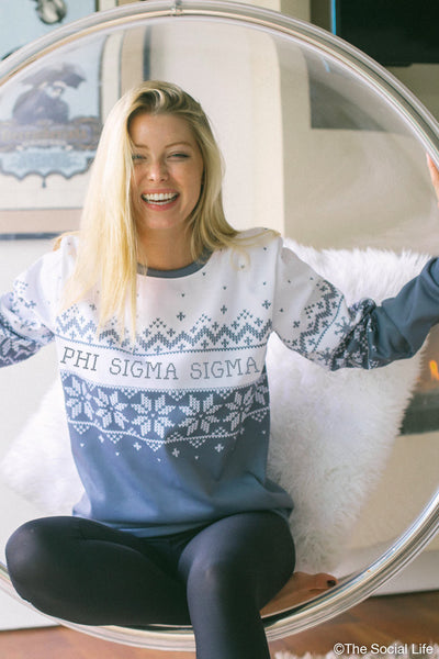 Phi Sigma Sigma Holiday Crewneck