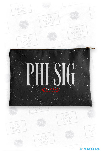 Phi Sigma Sigma Speckle Cosmetic Bag