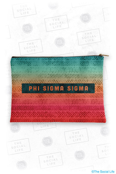 Phi Sigma Sigma Tribal Cosmetic Bag