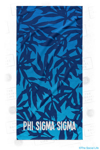 Phi Sigma Sigma Sea Leaf Beach Towel