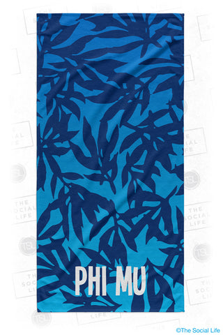 Phi Mu Sea Leaf Beach Towel