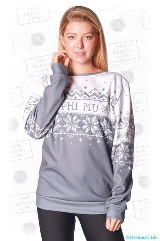 Phi Mu Holiday Crewneck