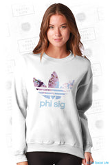 Phi Sigma Sigma Floral Athletic Crewneck