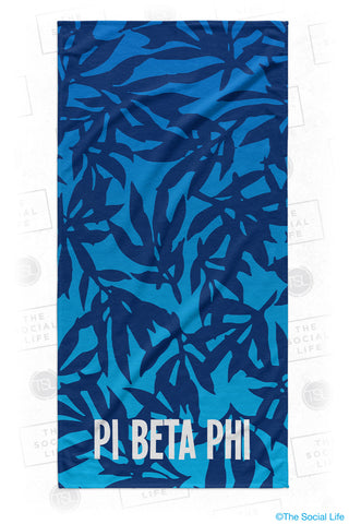 Pi Beta Phi Sea Leaf Beach Towel